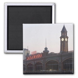 USA, New Jersey, Hoboken, old train station 2 Inch Square Magnet