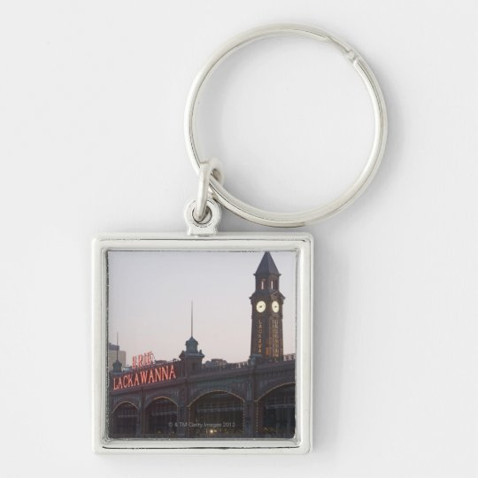 USA, New Jersey, Hoboken, old train station Keychain