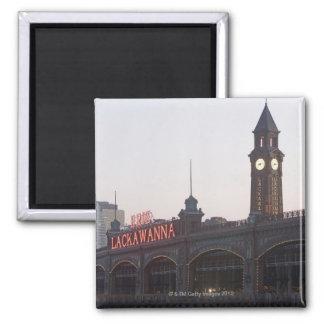 USA, New Jersey, Hoboken, old train station Fridge Magnets