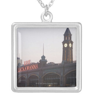 USA, New Jersey, Hoboken, old train station Silver Plated Necklace