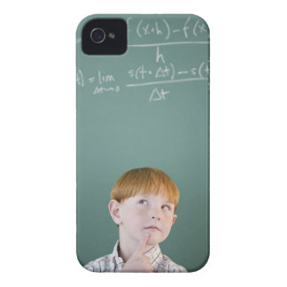 USA, New Jersey, Jersey City, Boy (8-9) iPhone 4 Cover