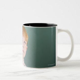 USA, New Jersey, Jersey City, Boy (8-9) Two-Tone Coffee Mug