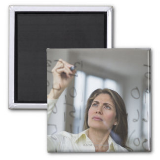 USA, New Jersey, Jersey City, Businesswoman 2 Inch Square Magnet
