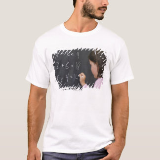 USA, New Jersey, Jersey City, Close up of girl T-Shirt