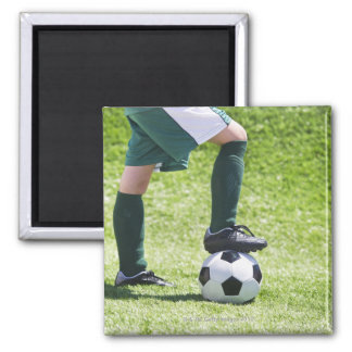 USA, New Jersey, Jersey City, Close up of girl's 2 Inch Square Magnet