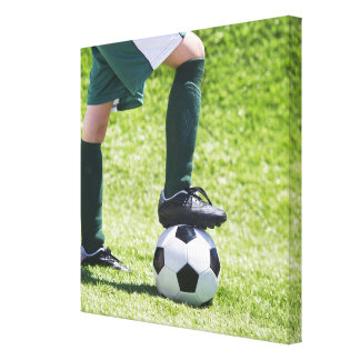 USA, New Jersey, Jersey City, Close up of girl's Gallery Wrap Canvas