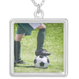 USA, New Jersey, Jersey City, Close up of girl's Silver Plated Necklace