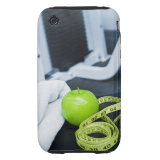 USA, New Jersey, Jersey City, Close up of green Tough iPhone 3 Cover