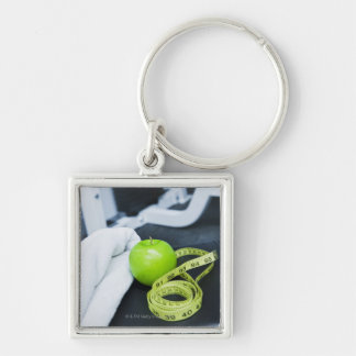 USA, New Jersey, Jersey City, Close up of green Keychain