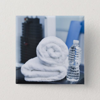 USA, New Jersey, Jersey City, Close up of towel Button
