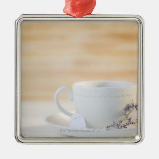 USA, New Jersey, Jersey City, cup and saucer Christmas Tree Ornament