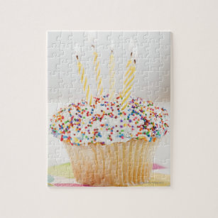 USA New Jersey City Cupcake With Jigsaw Puzzle