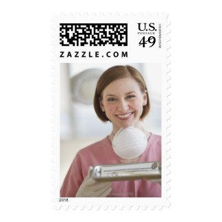 USA, New Jersey, Jersey City, dental assistant Postage
