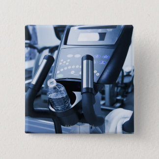 USA, New Jersey, Jersey City, Exercise machine Button