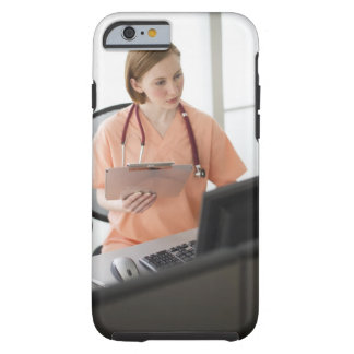 USA, New Jersey, Jersey City, female nurse Tough iPhone 6 Case