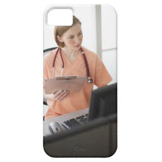 USA, New Jersey, Jersey City, female nurse iPhone 5 Covers