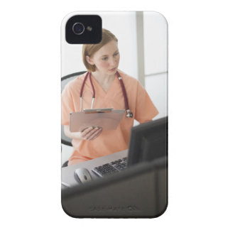 USA, New Jersey, Jersey City, female nurse Case-Mate iPhone 4 Case