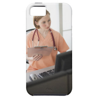 USA, New Jersey, Jersey City, female nurse iPhone SE/5/5s Case