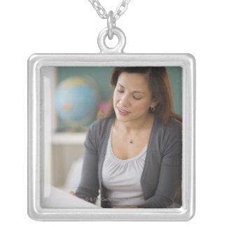 USA, New Jersey, Jersey City, female teacher Personalized Necklace