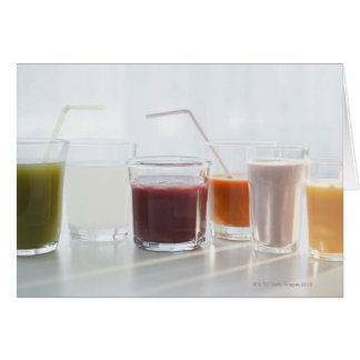 USA, New Jersey, Jersey City, fresh smoothies Card