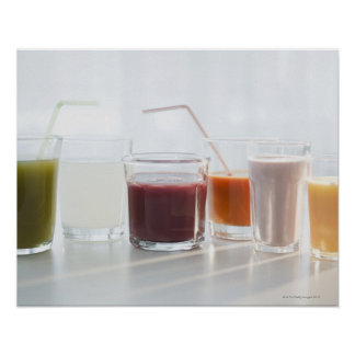 USA, New Jersey, Jersey City, fresh smoothies Print