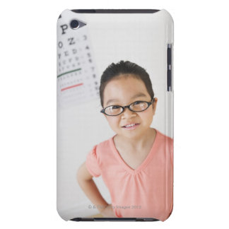 USA, New Jersey, Jersey City, Girl (6-7) at eye Barely There iPod Covers