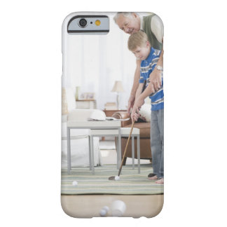 USA, New Jersey, Jersey City, grandfather and Barely There iPhone 6 Case
