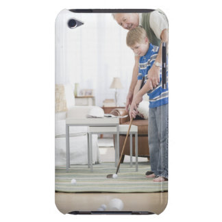 USA, New Jersey, Jersey City, grandfather and Barely There iPod Cases