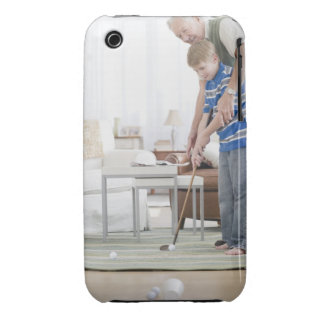 USA, New Jersey, Jersey City, grandfather and iPhone 3 Cover