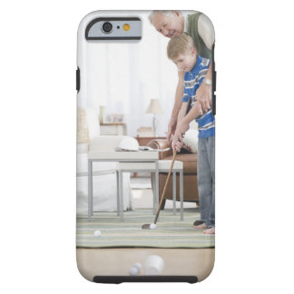 USA, New Jersey, Jersey City, grandfather and Tough iPhone 6 Case