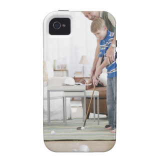 USA, New Jersey, Jersey City, grandfather and iPhone 4/4S Covers
