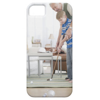 USA, New Jersey, Jersey City, grandfather and iPhone 5 Covers