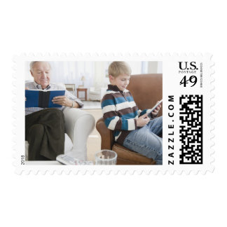 USA, New Jersey, Jersey City, grandfather Postage Stamp