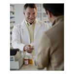 USA, New Jersey, Jersey City, Pharmacist selling Poster