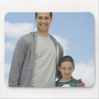 USA, New Jersey, Jersey City, portrait of father Mouse Pads
