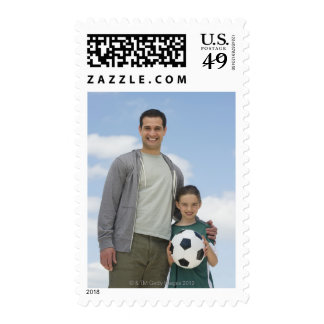 USA, New Jersey, Jersey City, portrait of father Stamps