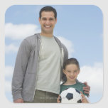 USA, New Jersey, Jersey City, portrait of father Stickers