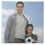 USA, New Jersey, Jersey City, portrait of father Ceramic Tile
