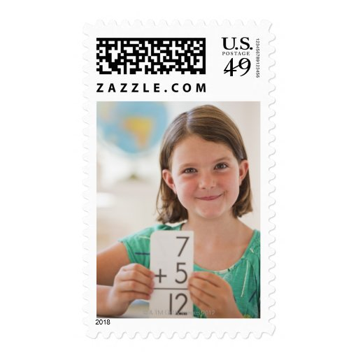 USA, New Jersey, Jersey City, Portrait of girl Postage Stamps
