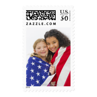 USA, New Jersey, Jersey City, Portrait of girls 3 Postage