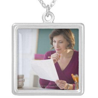 USA, New Jersey, Jersey City, portrait of Custom Necklace