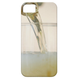 USA, New Jersey, Jersey City, pouring beer into iPhone 5 Case