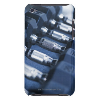 USA, New Jersey, Jersey City, Row of dumbbells Barely There iPod Cases