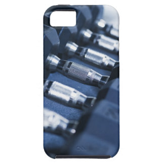 USA, New Jersey, Jersey City, Row of dumbbells iPhone 5 Case