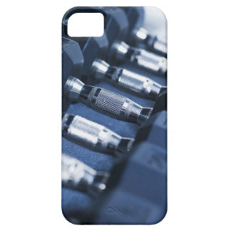 USA, New Jersey, Jersey City, Row of dumbbells iPhone 5 Cases