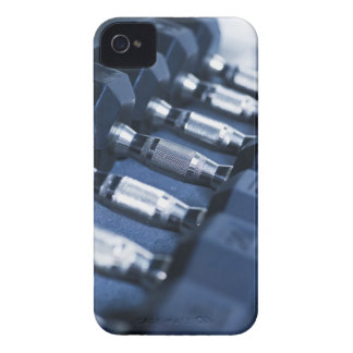 USA, New Jersey, Jersey City, Row of dumbbells Case-Mate iPhone 4 Case