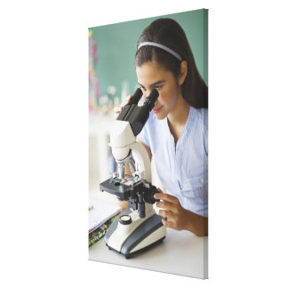 USA, New Jersey, Jersey City, Schoolgirl (12-13) Stretched Canvas Prints