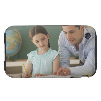 USA, New Jersey, Jersey City, teacher helping iPhone 3 Tough Case