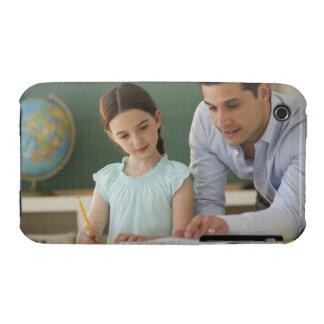USA, New Jersey, Jersey City, teacher helping Case-Mate iPhone 3 Case