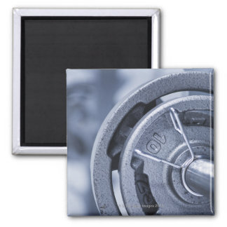 USA, New Jersey, Jersey City, Ten kilos weights 2 Inch Square Magnet